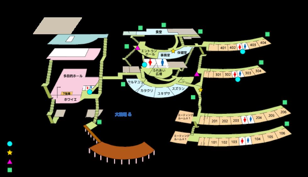 青少年山の家の館内図